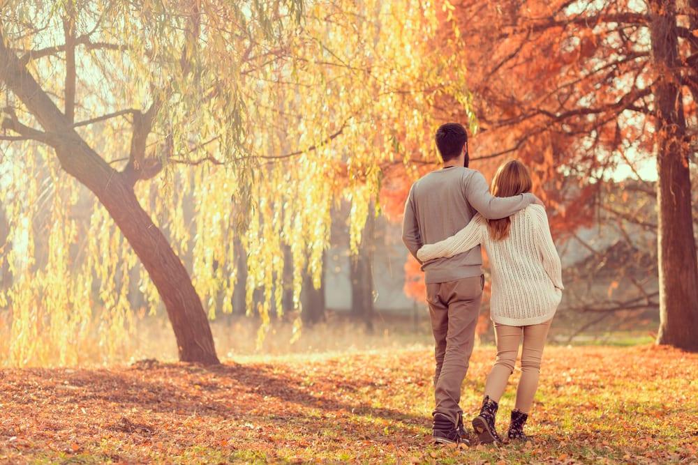 Autumn walking