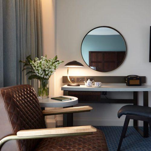 Desk space at Tamburlaine Hotel Cambridge