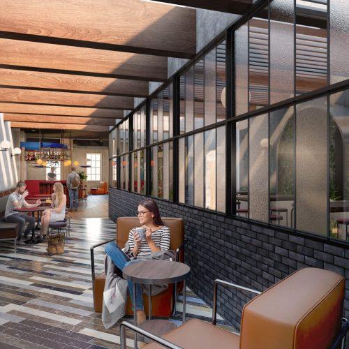 The Mont Hotel Dublin Bar Hallway