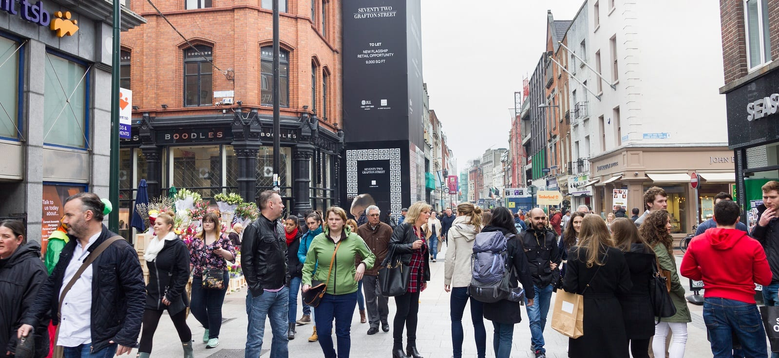 Shopping at Grafton Street Dublin